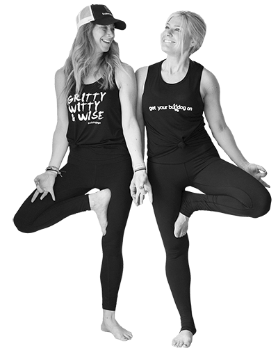 Two Girls Doing Yoga