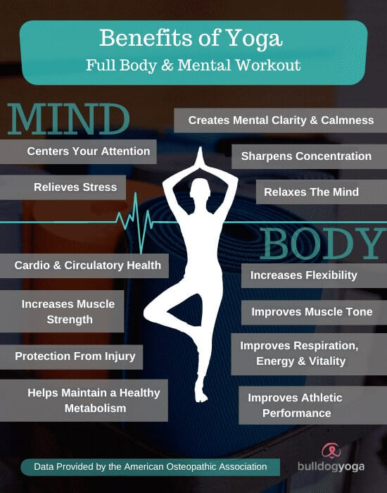 Yoga workouts are a full body workout