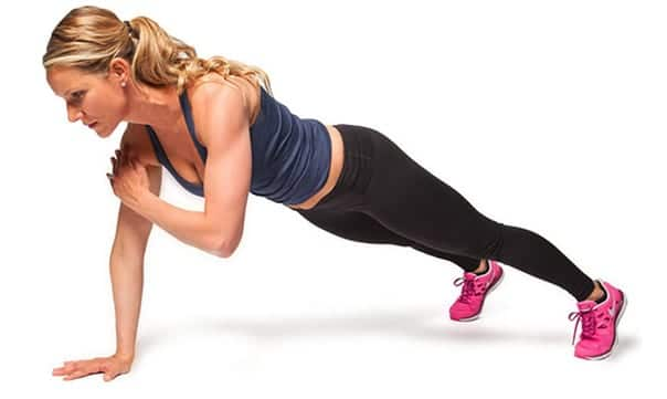 plank pose - online yoga - arm workouts for women