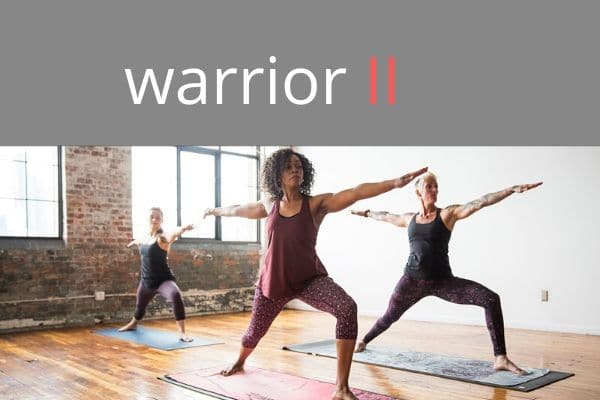 warrior poses - a core element in online yoga classes