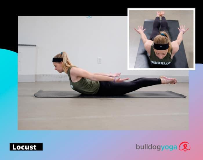 Yoga online - locust pose