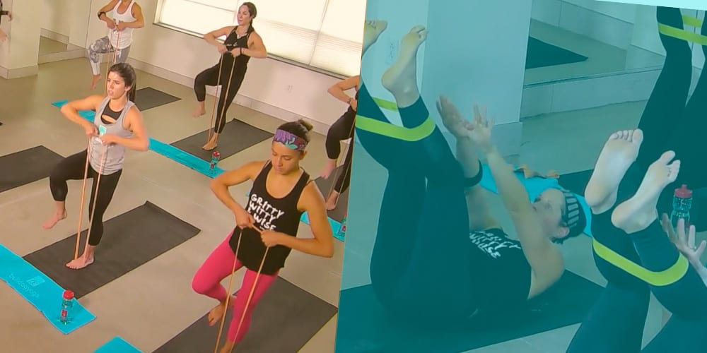 Online yoga classes with resistance bands