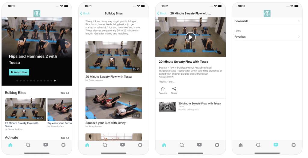 Yoga App - Bulldog Online